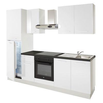 Kitchenette cuisine compl te et meuble sous vier castorama for Cuisine facade inox