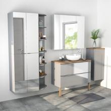 Les armoires et miroirs de salle de bains
