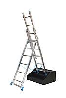 Échelle d'escalier multiposition 3 x 6 marches - 3,85m