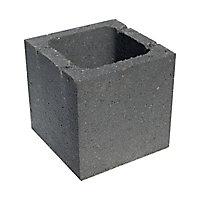 Élément de pilier 20 x 20 cm noir