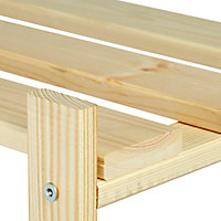 Étagère bois 4 tablettes L. 65 x H. 130 x P. 30 cm