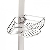 Étagère de douche d'angle en aluminium extensible SimpleHuman