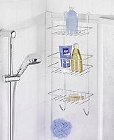 Étagère de douche filaire chromée Wenko Revigo 3 niveaux