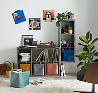 Étagère modulable 3 cubes coloris gris Mixxit