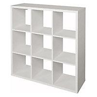 Étagère modulable 9 cubes coloris blanc Mixxit