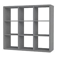 Étagère modulable 9 cubes coloris gris Mixxit