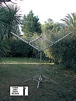Étendoir à linge extérieur avec pieds MSV étendage 50 m