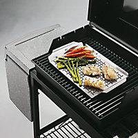 Plat de cuisson en inox pour barbecue Weber Style