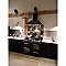 Crédence en inox miroir anti-trace 90 x 70 cm