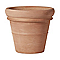 Pot rond terre cuite Deroma Doppio bordo rouge Ø77 x h.64 cm