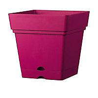 Pot Samba à réserve d'eau framboise 17,5 x 17,5 cm