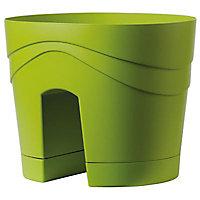 Pot balconny Samba à réserve d'eau ø29 cm olive
