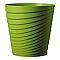Vase rond plastique DEROMA Slinky vert olive Ø35 x h.35 cm