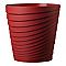 Vase rond plastique Deroma Slinky rouge griotte Ø35 x h.35 cm