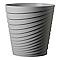 Vase rond plastique Deroma Slinky gris écume Ø35 x h.35 cm