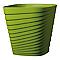 Pot carré plastique DEROMA Slinky vert olive 30 x 30 x h.30 cm