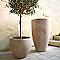 Vase rond terre cuite Deroma Alto chocolat Ø30 x h.33,5 cm