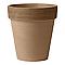 Vase rond terre cuite Deroma Alto graffiato chocolat Ø40 x h.44 cm
