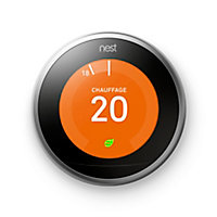 Thermostat connecté Nest 3ème génération acier
