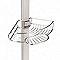 Étagère de douche d'angle en aluminium extensible