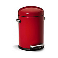 Poubelle à pédale rouge Simplehuman Rétro 4,5L