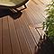 Lame de terrasse composite Terra brun L.244 x l.12,7 cm
