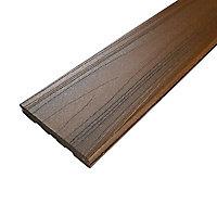 Lame de terrasse composite brun Xtrem L.244 x l.12,7 cm
