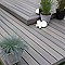 Lame de terrasse composite gris Xtrem L.244 x l.12,7 cm