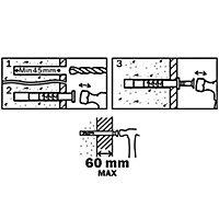 10 chevilles à frapper Diall nylon CS PZ Ø8x100mm