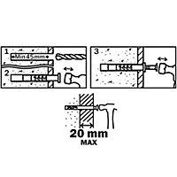 10 chevilles à frapper Diall nylon CS PZ Ø8x60mm