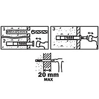10 chevilles à frapper Diall nylon MSH PZ Ø8x60mm