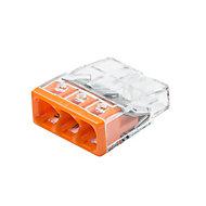 10mini bornes automatiques 3 entrées Wago (2273) 0,5 - 2,5mm²