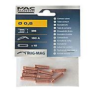 10 tubes contact 0.8 mm Mac Allister M6