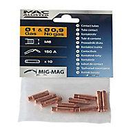 10 tubes contact 0.9 mm Mac Allister M6
