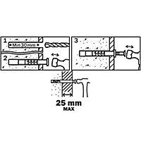 100 chevilles à frapper Diall nylon MSH PZ Ø5x50mm