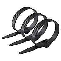 100 colliers de serrage en nylon Schneider electric 9 x 185 mm noir