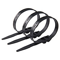 100 colliers de serrage en nylon Schneider electric 9 x 262 mm noir