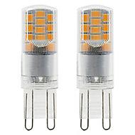 2 ampoules LED Diall capsule G9 2,6W=28W blanc neutre
