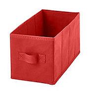 2 boîtes de rangement rectangulaires en textile Mixxit coloris rouge
