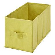 2 boîtes de rangement rectangulaires en textile Mixxit coloris vert