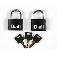 2 Cadenas noir même clé 40 mm