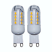 2 Capsules LED G9 3W=30W Blanc neutre
