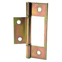 2 charnières acier bichromaté Diall 76 x 26 mm
