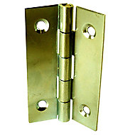 2 charnières acier laitonné Diall 25 x 18 mm