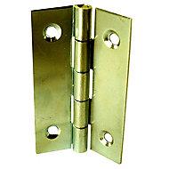 2 charnières acier laitonné Diall 35 x 22 mm