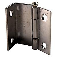 2 charnières contrecoudée acier chromé Diall 16 mm