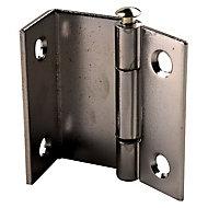 2 charnières contrecoudée acier chromé Diall 19 mm