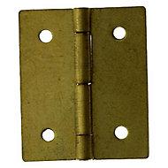 2 charnières d'étui acier laitonné Diall 20 x 15 mm