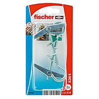 2 chevilles à ressort pour charges moyennes Fischer M4x80mm