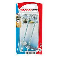 2 chevilles à ressort pour charges moyennes Fischer M4x90mm